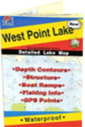 West point lake georgia waterproof map fishing hot spots for West point lake fishing