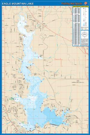Eagle mountain texas waterproof map fishing hot spots for Eagle mountain lake fishing