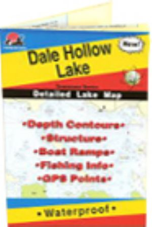 Dale Hollow Lake, Tennessee Waterproof Map ( Hot Spots ... on