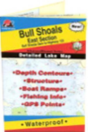 Bull Shoals Lake (East Section) Waterproof Map (Fishing Hot Spots ...