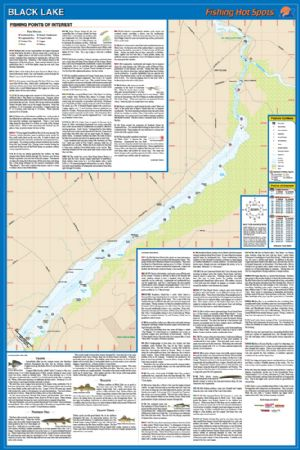 fishing hot spots lake maps Black Lake New York Waterproof Map Fishing Hot Spots Lake Maps fishing hot spots lake maps