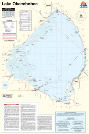 Lake Okeechobee Florida Waterproof Map Fishing Hot Spots Lake Maps